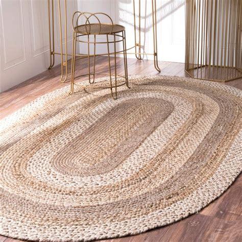 shop nuloom alexa eco natural fiber braided jute area rug