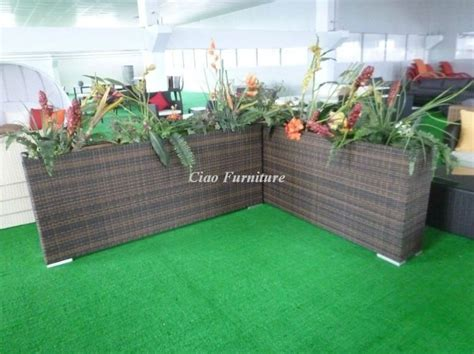 Buy Planter Boxes by Rattan Outdoor Furniture Rattan Flower Planter Square