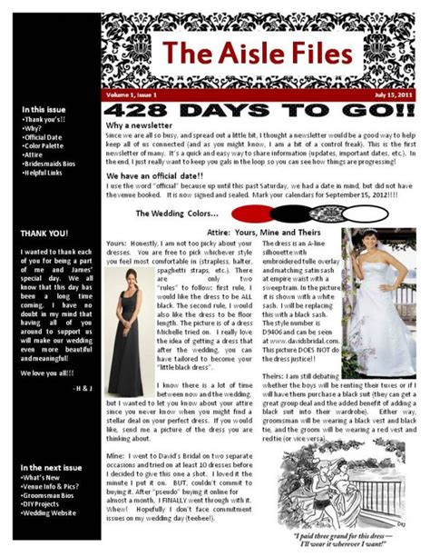 Bridesmaid Newsletter Template by Bridal Newsletter Weddingbee Photo Gallery