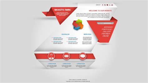 Origami Web Design - photoshop tutorial web design origami