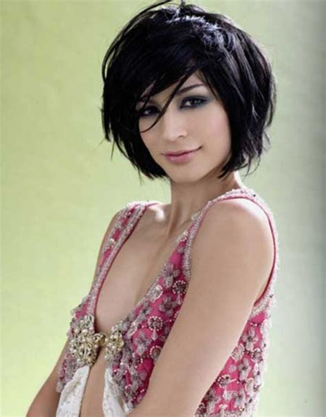front and back short layered bobs for large faces short layered bob hairstyles front and back view