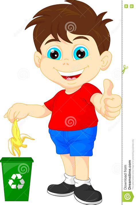imagenes de niños botando basura ni 241 o peque 241 o que recicla la basura org 225 nica ilustraci 243 n