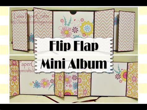 tutorial scrapbook youtube mini album desplegable flip flap tutorial scrapbook