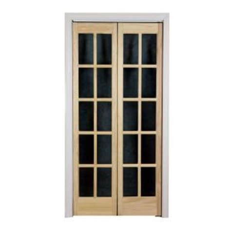 interior french doors home depot pinecroft 36 in x 80 in classic french glass wood universal reversible interior bi fold door