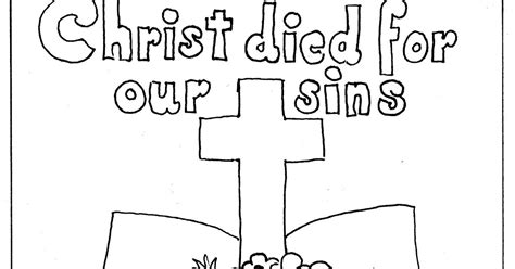 jesus died coloring page coloring pages for kids by mr adron bible and cross