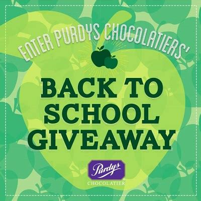 Free Apple Stuff Giveaway - enter purdy s back to school giveaway free stuff finder canada