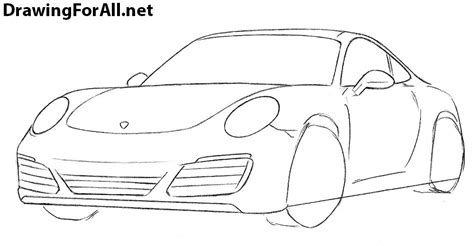 porsche drawing how to draw a porsche 911 drawingforall