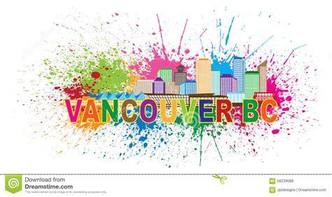 vancouver bc skyline paint splatter vector illustration stock vector image 58239088
