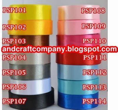 Pita Satin Roll 1 Inch 2 5cm jual pita satin and s crafts