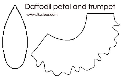 template of a daffodil daffodil petal and trumpet outline template