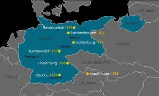 Concentration Camps In Germany Map by Step 3 Concentration Camps Steps Of The Holocaust