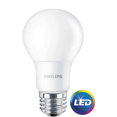 Philips Led Light Bulbs Dimmable Philips 60w Equivalent Daylight A19 Non Dimmable Led Light Bulb 16 Pack 466094 The Home Depot