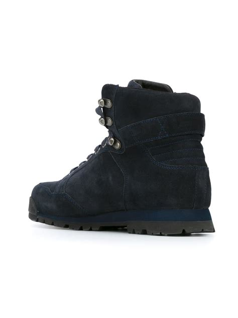 armani boots for armani lace up boots in blue for lyst