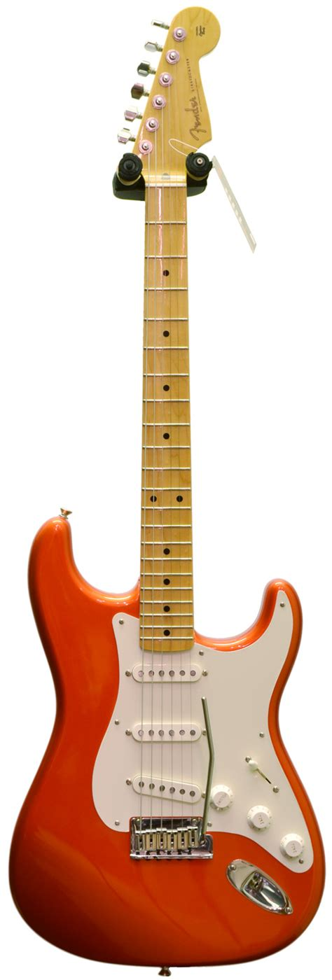 Handmade Electric Guitars Uk - fender custom shop custom deluxe strat tangerine