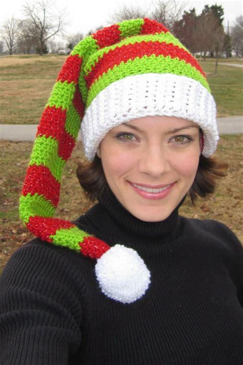 free pattern elf hat free elf hat pattern crochet pinterest