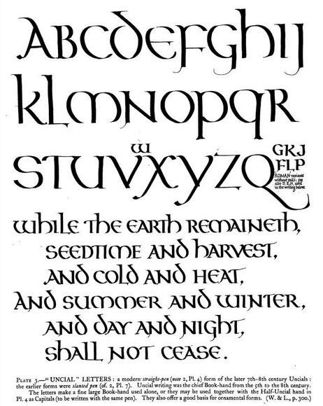 unical lettere unical lettering by edward johnstone from the book