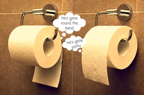 how to hang toilet paper hanging toilet paper rolls can reveal your personality