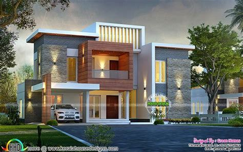 beautiful villa design in 2750 sq feet kerala home awesome contemporary style 2750 sq ft home kerala home