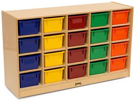childrens cubbie tray storage single sided