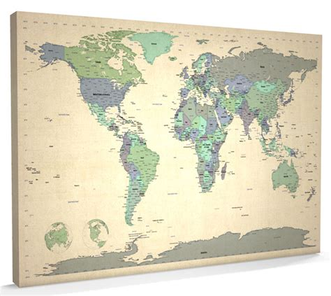 world map canvas map of the world map canvas a1 34x22 inch m479 ebay