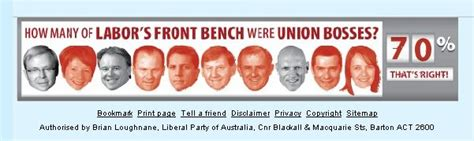liberal party front bench from the liberal party website
