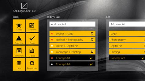 windows 8 notes app design template geekch component