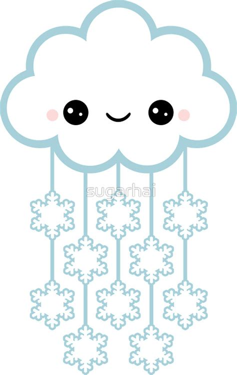 Wall Stickers Clouds quot cute snow cloud quot stickers by sugarhai redbubble