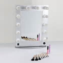 Professional Vanity Mirror With Lights Silver And Black Style Mirror Professional