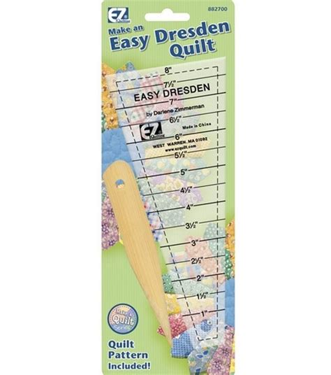 Dresden Quilt Ruler by Wrights Easy Dresden Quilting Ruler Jo