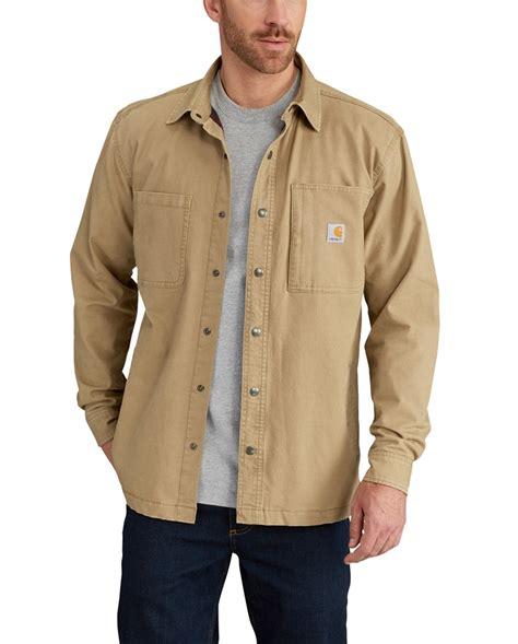 carhartt rugged flex rigby shirt jac 10 carhartt s rugged flex rigby fleece lined shirt