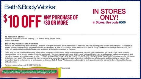 bed bath and body works coupons printable coupons 2017 bath and body works coupons
