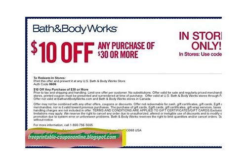 www.coupons for bath and body works