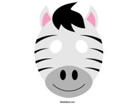 zebra mask pattern zebra mask templates including a coloring page version of