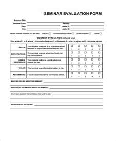 professional development evaluation form template 7 seminar evaluation form sles free sle exle