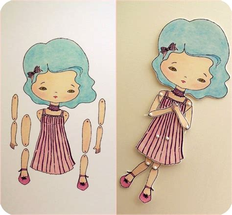 Doll With Paper - gingermelon dolls paper doll giveaway