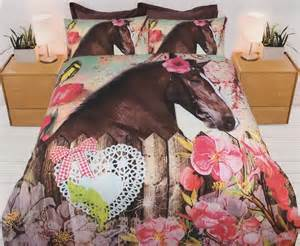bedding with horses blooms quilt cover set bedding