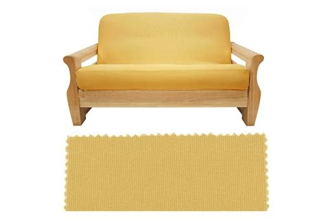 canvas futon covers brushed sunflower canvas futon cover