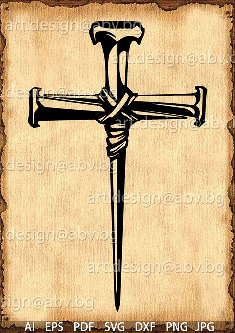 vector cross  nails svg dxf ai png  eps jpg