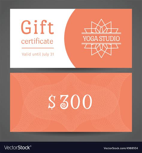 diy gift certificates template google search yoga pinterest