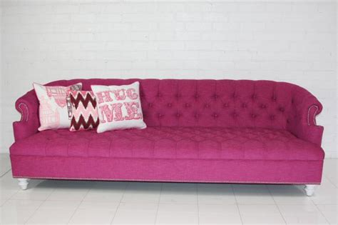 pink sofa website www roomservicestore com bel air hot pink tufted sofa