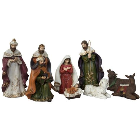 nativity scene with the 9 pieces