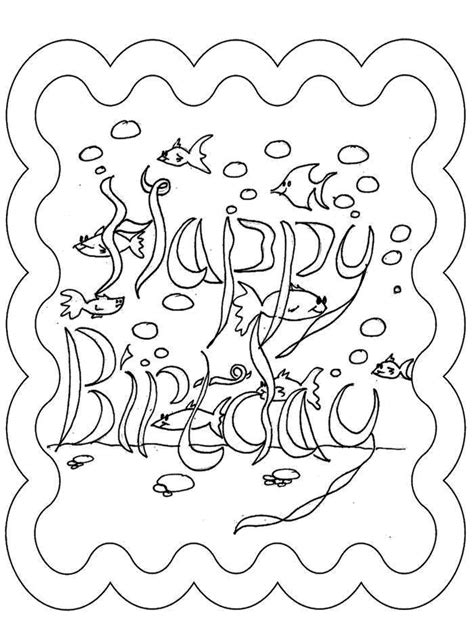 coloring pages of happy birthday cards birthday card coloring pages az coloring pages