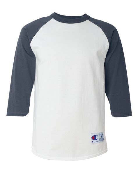 New Kaos Atasan Lengan Panjang White Gold Original chion mens 3 4 sleeve baseball t shirt s 3xl raglan