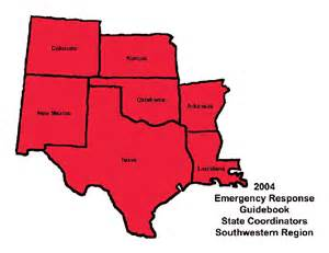 united states southwest region map southwestern region coordinators