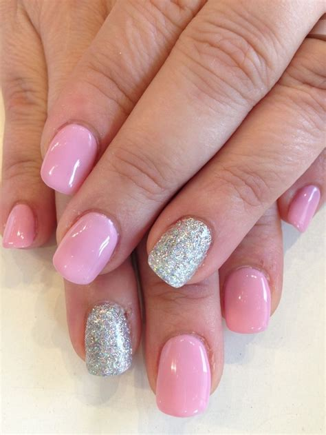 Bio Sculpture Nails by Bio Sculpture Gel 65 Pink Iceberg With Silver Glitter