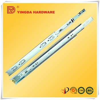 high quality two way travel telescopic channel computer kitchen cabinet drawer slide parts metal box drawer slide