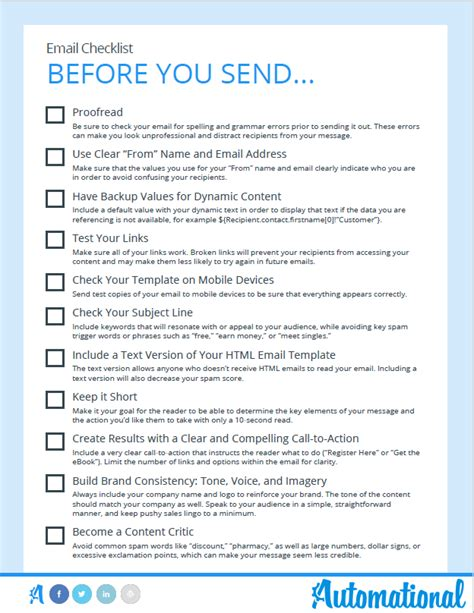 email checklist template 11 powerful email marketing best practices you can t forget