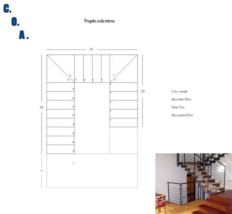 progetto scala interna foto progetto scala interna in tubolare e legno di coa