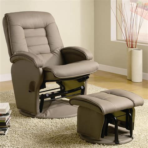 leather glider recliner with ottoman recliners with ottomans leather like vinyl glider with