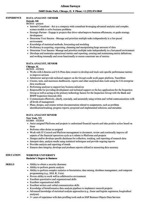 senior data quality analyst job description how create